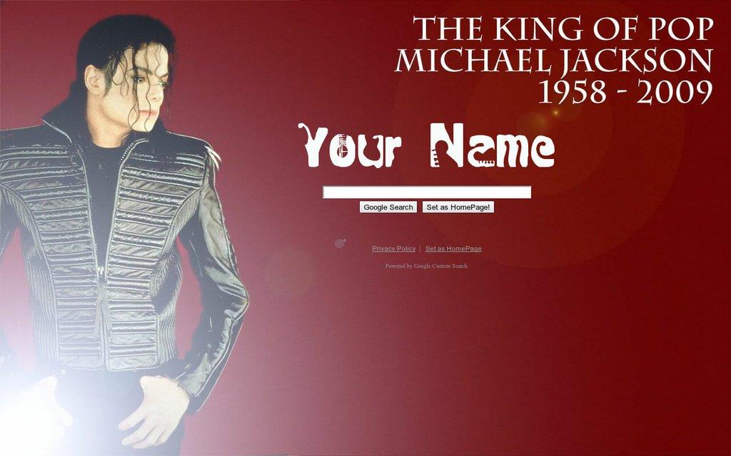 Michael jackson rip google theme