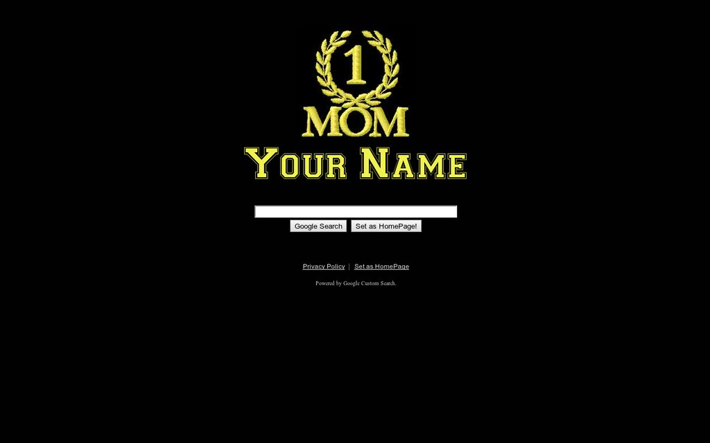 Number 1 Mom Google Theme